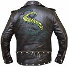 Genuine Distressed Leather Fallout 3 Tunnel Snakes Rule Jacket, Fast Shipping