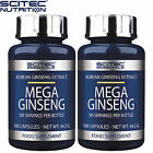 Mega Ginseng 100-300 Caps Korean Ginseng Extract Panax Energy Wellbeing Health