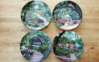 Bradford Exchange Collector Plates Romantic Gardens set of 4 COA Free shipping