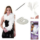 1920S Flapper Theme Gatsby Ladies Charleston Gloves,Boa Fancy Dress Accessories