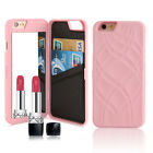 Luxury Card Slot Wallet Phone Flip Case Cover With Mirror For iPhone 5 6s 7 Plus
