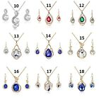 Hot Sales Crystal Rhinestone  Pendant Chain  Necklace & Earrings  Jewelry Set