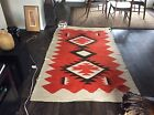 Large Early Navajo Rug Beautiful Design