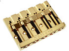 Omega High Mass 5-String Bass Bridge BADASS V Style - BLACK CHROME GOLD NICKEL for sale