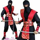 Mens Adult Ninja Master Assassin Fancy Dress Costume Halloween Japanese Combat