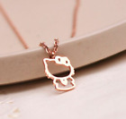 14kgp Gold Rose Gold Titanium Steel Hello Kitty Necklace With Gift Box