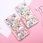 Cute Unicorn Patterned Clear Soft Silicone TPU Case Cover For iPhone 6 6S 7 Plus
