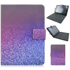 "Purple Sky PU Leather Case Cover Micro USB Keyboard for 7"" 8"" Android Tablets"