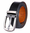 Men's Full Grain Cow Leather Belt with Removable Buckle, in Gift Box