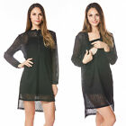 New Arrival Maternity Nursing Dress Long Sleeves Lace Fashion for Pregnant Dress