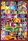 POKEMON - FRAMED TV SHOW / GAMING POSTER (CHARACTER GRID / MOVES)