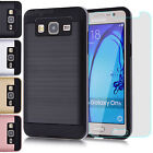 Hybrid Dual Layer Protective Case Cover + Tempered Glass for Samsung Galaxy On5