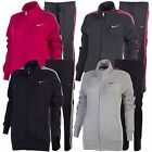 Nike Women's Full Tracksuit Top & Bottoms Black Grey Pink Sports Running Joggers