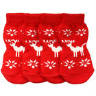 Dog Socks - Reindeer Design Winter Dog Socks - Pk 4 - RichPaw - Non Slip S to XL