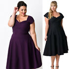 Plus Size XL~5XL Women Sexy Short Sleeve Dress New Party Evening Cocktail Formal