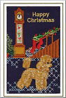 Poodle Christmas Card Embroidered by Dogmania