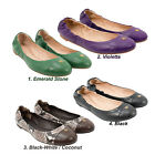 NEW Tory Burch York Saffiano Leather Ballet Flat Shoes