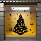 Christmas Shop Window Sticker XMAS TREE WALL STICKER XMAS WALL STICKER DECAL N87