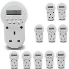 7 Day Digital LCD Electronic Plug-in Programmable 12/24 Hour Timer Switch Socket