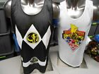 Licensed Mens Black Power Rangers Reversible Jersey Shirt New S, M, L, XL, 2XL