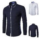 Luxury Basic Fashion Mens Slim Fit Shirt Long Sleeve Dress Shirts Casual Shirts