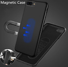 Magnetic Car holder Soft TPU Cover Case iphone X 8 7 6s Plus