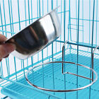 Puppy Cat Cage Hanging Single Bowl Pet Dog Bowl Stainless Steel Dish Feeders