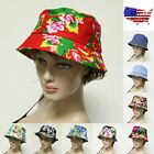 Bucket Hat Boonie Flower Hunting Fishing Outdoor floral Unisex 100% Cotton NEW