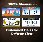 Nebraska State Tag Custom Auto OR Motorcycle Novelty Personalized License Plates