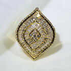 18K Yellow Gold Filled AAA CZ Women Fashion Jewelry Cluster Ring R3457 Size 5 10