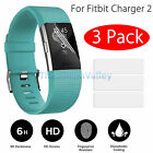 3 Pack Premium HD Clear Screen Protector Film Cover Shield For Fitbit Charge 2