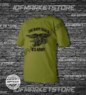 T shirt Mens Dry Fit Short Sleeve Green Olive Us Army Military Usa  Navy Seals
