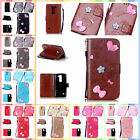 For LG Spirit H440N C70 H420 Leather Handmade Bowknot Card Case Cover+Gift Strap
