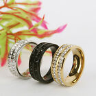 Size 7-12 Fashion women/men Crystal Lovers Ring Wedding Band Ring gift
