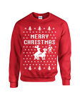 Merry Christmas Reindeer Humping Ugly Sweater Raindeer Unisex Crew Sweatshirt