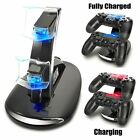 LED Dual Fast Charger Dock USB Charging Stand Station For Sony PS4 Controller US