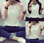 Top school girl cotton plain long sleeve women casual T-shirt slim Yi
