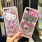 Cute Hello Kitty Ring Holder Stand Hybird Back Case Cover for iPhone 6 6S 7 Plus