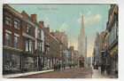 Worcestershire: High Street, Dudley - Tram/Shops/Church - Whitford's PC (189)