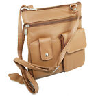 Genuine Leather Mini Purse Organizer Crossbody Shoulder Travel Bag More Colors image