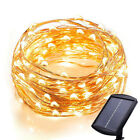 120 LEDs Outdoor Waterproof Solar Powered Starry String Copper Wire Fairy Lights