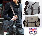 Big Vintage Canvas Travel Satchel Shoulder Tablet School Crossbody Bag Messenger