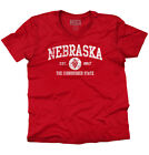 Nebraska  Vintage State Graphic Retro Hometown  V-Neck T-Shirt