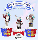 Harley Quinn Harlequin Suicide Squad Cupcake Toppers Standup PRECUT cup cake