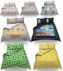Duvet Quilt Cover Set With PillowCases  Designer Single Double King Size Funny