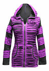 Women Pixie Hooded Razor Cut  Festival Emo Gothic Punk Hoody Hippie Jacket Tops