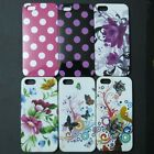 Polka Dots Flower Butterfly TPU Rubber Back case cover For Apple iphone 5 5S SE