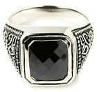 BLACK ONYX TRIBAL CELTIC STERLING 925 SILVER RING