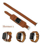 Double Buckle Cuff Leather Herme 1 2 watch Band Strap For Apple Watch Series 1 2