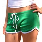 Juniors Athletic Workout Casual Summer Wear Dolphin Solid Short With Drawstring